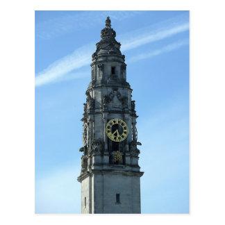 市役所の時計台、カーディフ ポストカード