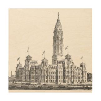 市役所フィラデルヒィアPA 1891年 ウッドウォールアート