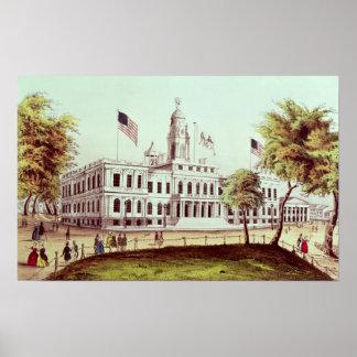 市役所、ニューヨーク ポスター