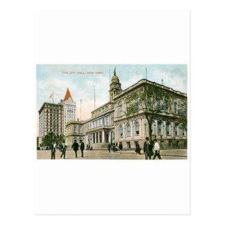 """""""市役所""""ニューヨーク ポストカード"""