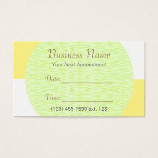 市松模様になるアポイントメントカードIのU一突き色の白 名刺