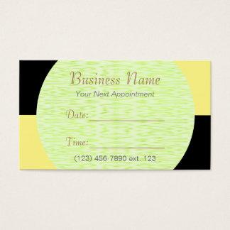 市松模様になるアポイントメントカードIのU一突き色の黒 名刺