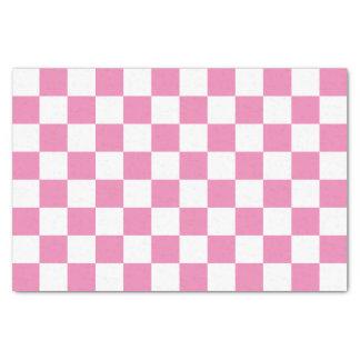市松模様になるピンク 薄葉紙