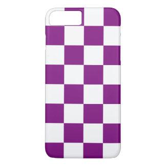 市松模様になる紫色 iPhone 8 PLUS/7 PLUSケース