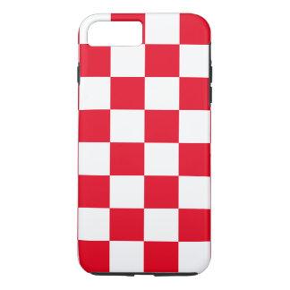市松模様になる赤 iPhone 8 PLUS/7 PLUSケース