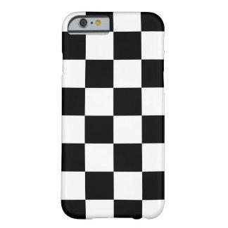 市松模様になる黒 BARELY THERE iPhone 6 ケース