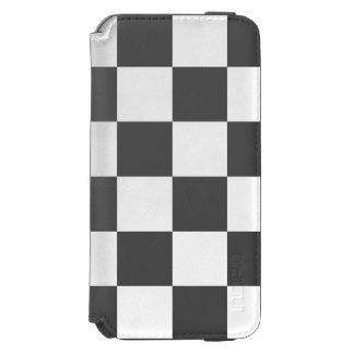 市松模様になる黒 INCIPIO WATSON™ iPhone 6 財布ケース