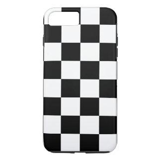 市松模様になる黒 iPhone 8 PLUS/7 PLUSケース