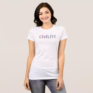 市民市民のための前向きな女性の合われたティー Tシャツ