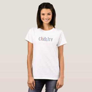 市民市民のための女性の前向きなTシャツ Tシャツ