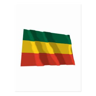 市民旗を振るエチオピア ポストカード