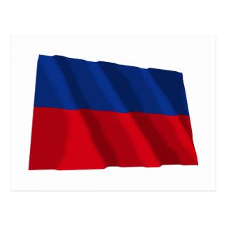 市民旗を振るハイチ ポストカード