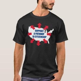 市民権の暗闇のTシャツへの細道 Tシャツ