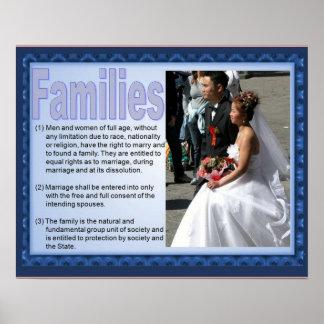 市民権、人権、家族生活 ポスター