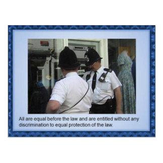 市民権、人権、法律の平等 ポストカード