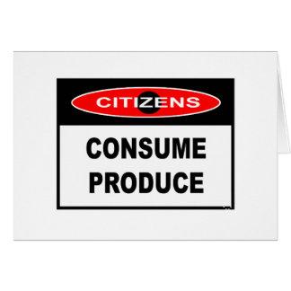 市民-農産物を消費して下さい カード