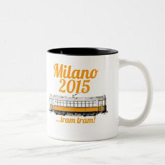 市街電車の市街電車ミラノ2015年 ツートーンマグカップ