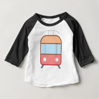 市街電車の漫画 ベビーTシャツ