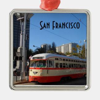 市街電車サンフランシスコ メタルオーナメント