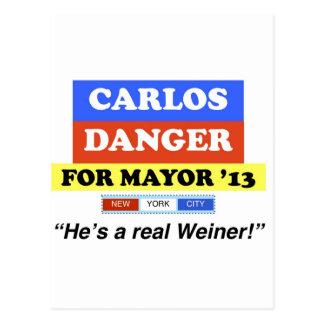 市長のためのNYC 「13カーロスの危険彼は実質のウィーナーです ポストカード