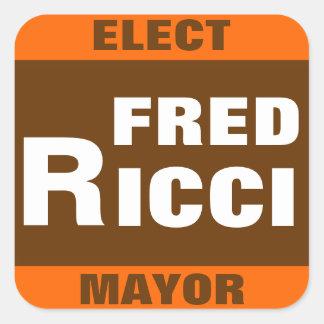 市長のステッカーのためのフレッドRicci スクエアシール