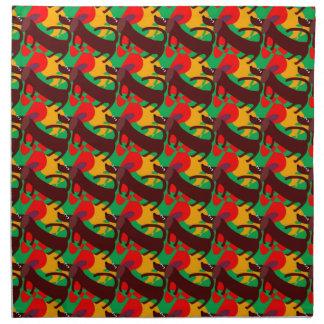 布のテーブルナプキンの斜めのダックスフント ナプキンクロス