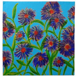 布のナプキンのセットの星状体の花(4) ナプキンクロス