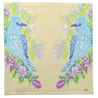 布のナプキンの青の鳥 ナプキンクロス