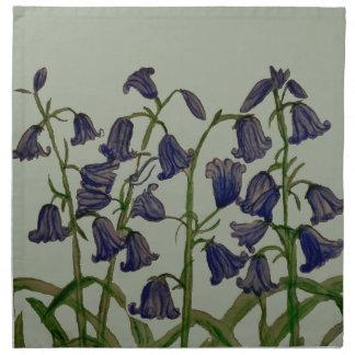 布のナプキンのBluebellの花の芸術(4)の置いて下さい ナプキンクロス