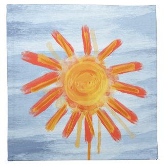 布のナプキン、日光の水彩画 ナプキンクロス