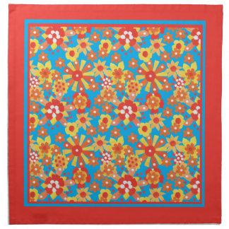 布の夕食ナプキン、Ditsyの花柄パターン ナプキンクロス