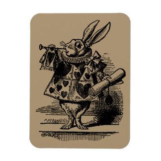 布告者として不思議の国の白いウサギのヴィンテージアリス マグネット