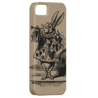 布告者として不思議の国の白いウサギのヴィンテージアリス iPhone SE/5/5s ケース