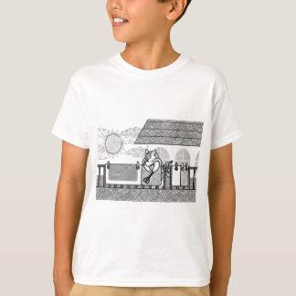 布団干し(Hang out futon)MONOCHROME Tシャツ