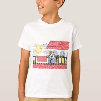 布団干し(Hang out futon) Tシャツ