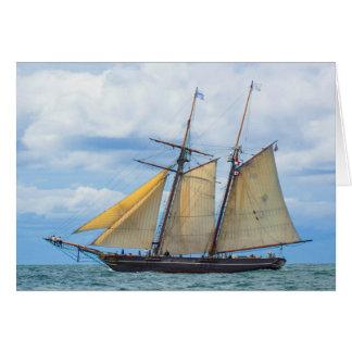帆の下のAmistad カード