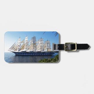 帆ボートのスクーナー船のヨット ラゲッジタグ