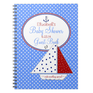 帆ボートのベビーシャワーの来客名簿| ノートブック