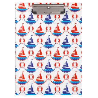 帆ボートパターン クリップボード