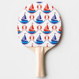 帆ボートパターン 卓球ラケット