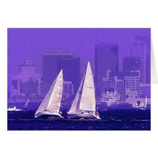 帆ボート、サンディエゴ、カリフォルニア カード