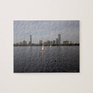 帆ボート、チャールズ川、ボストン、MA ジグソーパズル