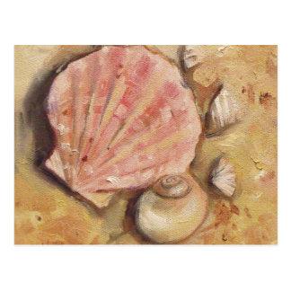 帆立貝およびMoonshell ポストカード