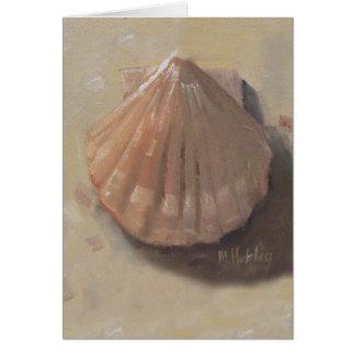 帆立貝貝のビーチの貝殻 カード
