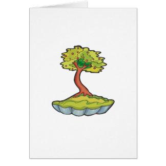 帆立貝pot.pngの盆栽の木の非公式の直立物 カード