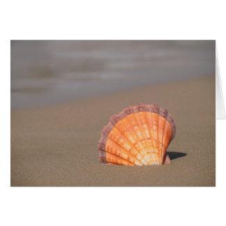 帆立貝Shell クレタ、ギリシャ カード