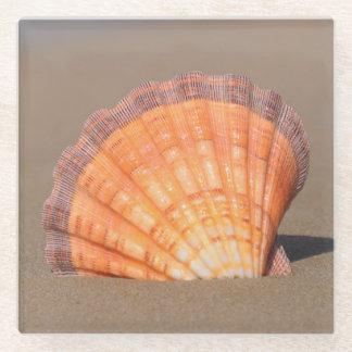 帆立貝Shell|クレタ、ギリシャ ガラスコースター