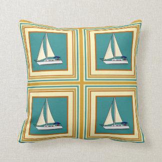 帆船のタイルの装飾用クッション クッション
