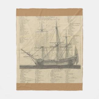 帆船のレイアウト フリースブランケット