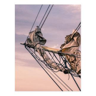 帆船の詳細 ポストカード